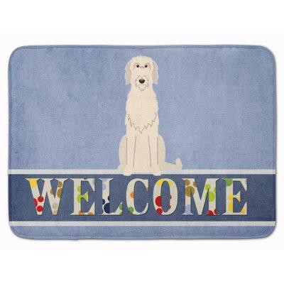 Jasper Irish Wolfhound Welcome Memory Foam Bath Rug