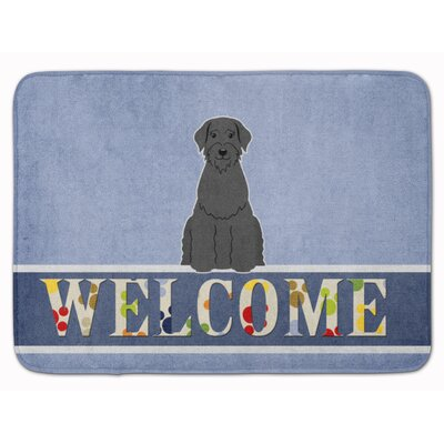 Giant Schnauzer Welcome Memory Foam Bath Rug