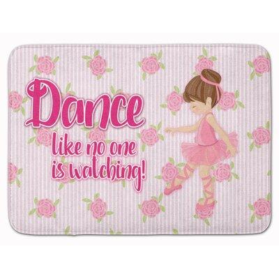Ballet Dance Brunette Memory Foam Bath Rug Color: Brown
