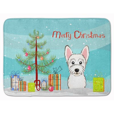 Christmas Tree and Westie Memory Foam Bath Rug