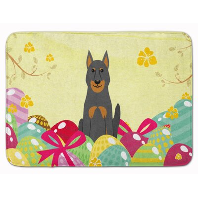Easter Eggs Beauce Shepherd Dog Memory Foam Bath Rug