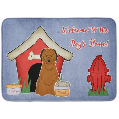 Dog House Briard Memory Foam Bath Rug Color: Brown
