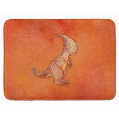 Denise Parasaurolophus Watercolor Memory Foam Bath Rug