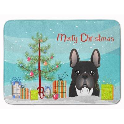 Christmas Tree and French Bulldog Memory Foam Bath Rug