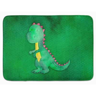 Dennis Tyrannosaurus Watercolor Memory Foam Bath Rug