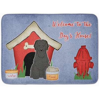 Dog House Briard Memory Foam Bath Rug Color: Black