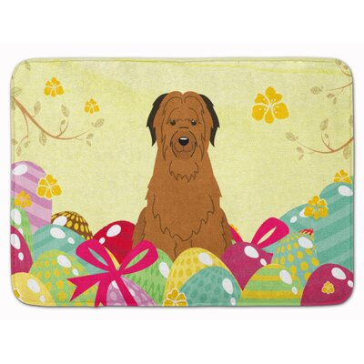 Easter Eggs Briard Memory Foam Bath Rug Color: Brown