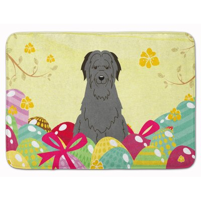 Easter Eggs Briard Memory Foam Bath Rug Color: Black