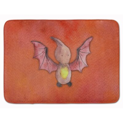 Deon Pterodactyl Watercolor Memory Foam Bath Rug