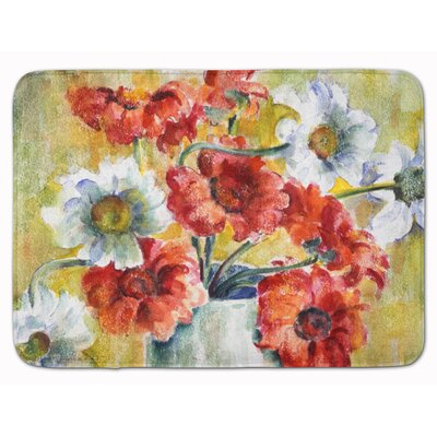 Flowers by Fiona Goldbacher Memory Foam Bath Rug