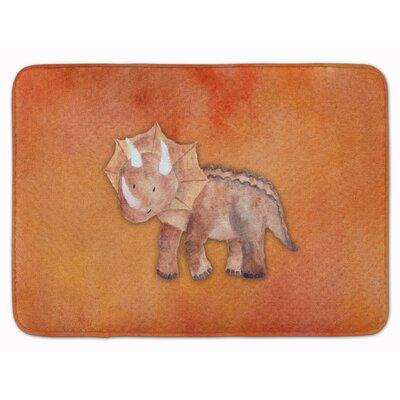 Derek Triceratops Watercolor Memory Foam Bath Rug