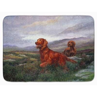 Irish Setter by Elizabeth Halstead Memory Foam Bath Rug
