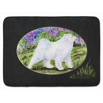 Samoyed Memory Foam Bath Rug