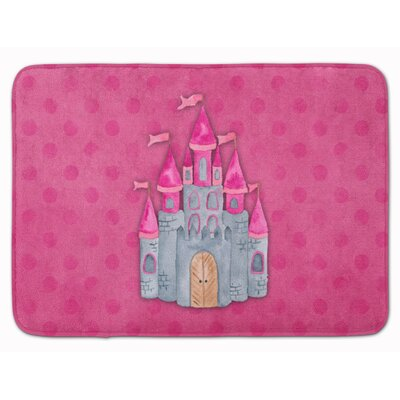 Princess Castle Watercolor Memory Foam Bath Rug