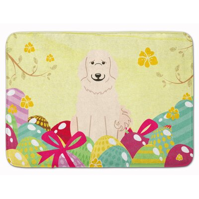 Easter Eggs Great Pyrenese Memory Foam Bath Rug