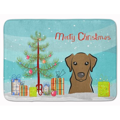 Christmas Tree and Labrador Memory Foam Bath Rug