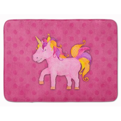 Zelma Unicorn Watercolor Memory Foam Bath Rug