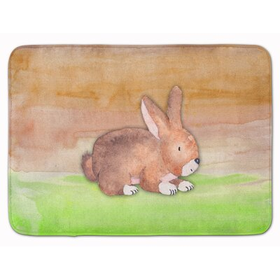 Beulah Rabbit Watercolor Memory Foam Bath Rug