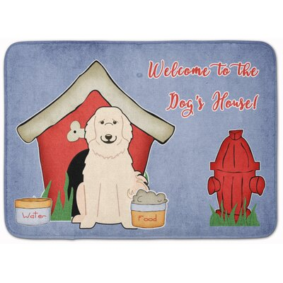Dog House Great Pyrenese Memory Foam Bath Rug