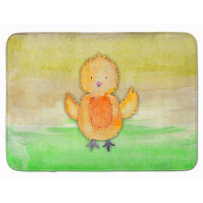 Breanne Chicken Hen Watercolor Memory Foam Bath Rug