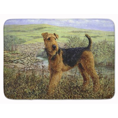 Airedale Terrier The Kings Country Memory Foam Bath Rug
