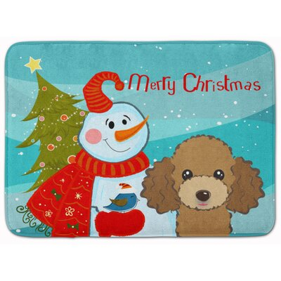 Snowman with Poodle Memory Foam Bath Rug