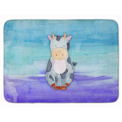 Cows Watercolor Memory Foam Bath Rug