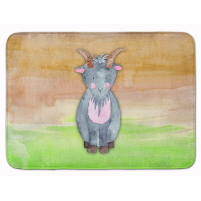 Bonita Goat Watercolor Memory Foam Bath Rug