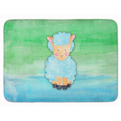 Braden Sheep Lamb Watercolor Memory Foam Bath Rug