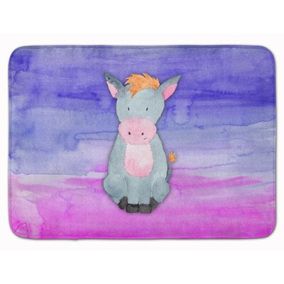 Donkeys Watercolor Memory Foam Bath Rug