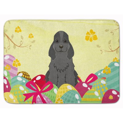 Easter Eggs Cocker Spaniel Memory Foam Bath Rug Color: Black