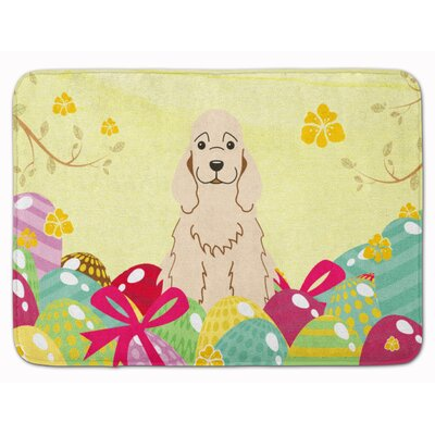 Easter Eggs Cocker Spaniel Memory Foam Bath Rug Color: Cream