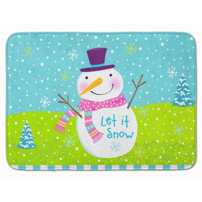Christmas Snowman Let it Snow Memory Foam Bath Rug
