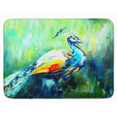 Peacock Proud Memory Foam Bath Rug
