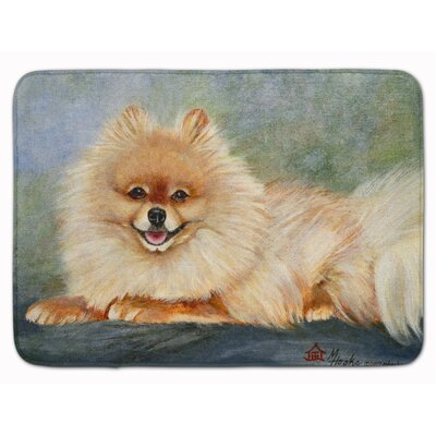 Pomeranian Full Body Memory Foam Bath Rug