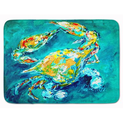 Crab By Chance Bath Rug Color: Aqua Blue