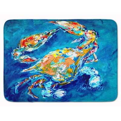 Crab By Chance Bath Rug Color: Dark Blue