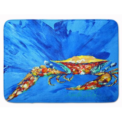 Crab Big Spash Memory Foam Bath Rug