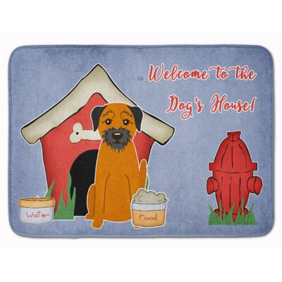 Dog House Border Terrier Memory Foam Bath Rug