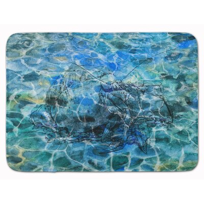Crab Hermit Under Water Memory Foam Bath Rug