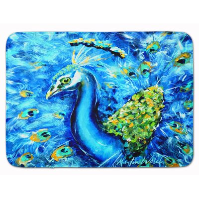 Peacock Straight Up Memory Foam Bath Rug