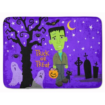 Halloween Frankie Frankenstein Memory Foam Bath Rug