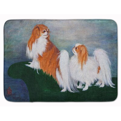 Kenwood Japanese Chin Standing on my Tail Memory Foam Bath Rug