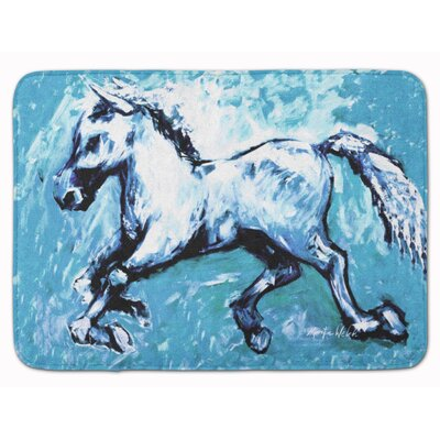 Shadow The Horse Bath Rug Color: Blue