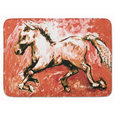 Shadow The Horse Bath Rug Color: Red