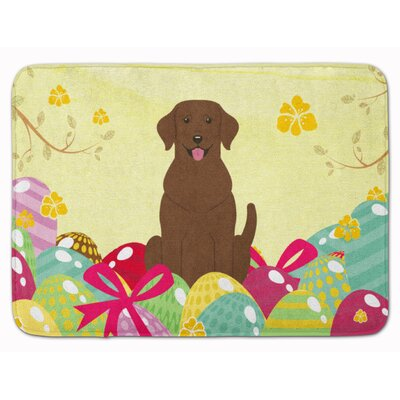 Easter Eggs Labrador Memory Foam Bath Rug