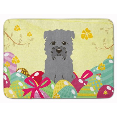 Easter Eggs Glen of Imal Memory Foam Bath Rug Color: Gray