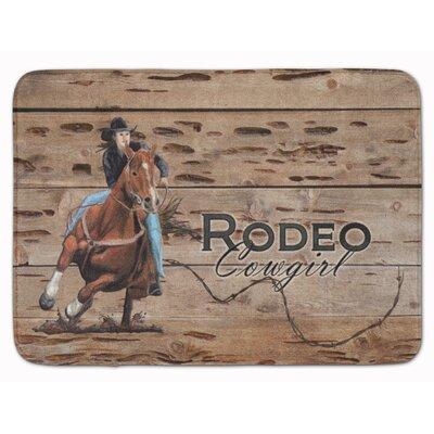 Rodeo Cowgirl Barrel Racer Memory Foam Bath Rug