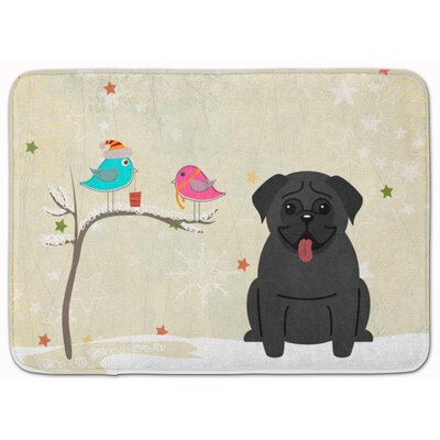 Christmas Presents Friends Pug Memory Foam Bath Rug