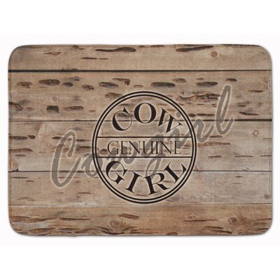 Genuine Cow Girl Branded Memory Foam Bath Rug